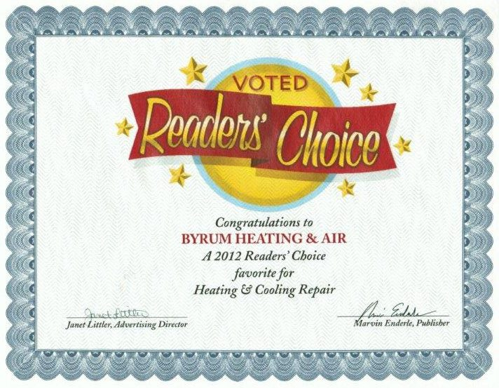 2012 Reader's Choice Award