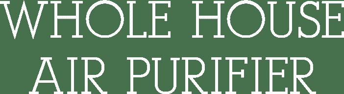 whole house purifier